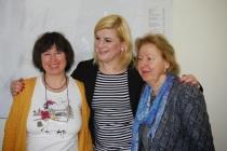 vlnr:  Frau Gelew-Andrée, Beate Juracz, Barbara Nazarewska