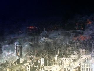 Ausschnitt aus Y.Asisis Panorama DRESDEN 1945
