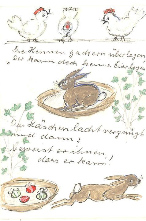 Osterhase Hennen